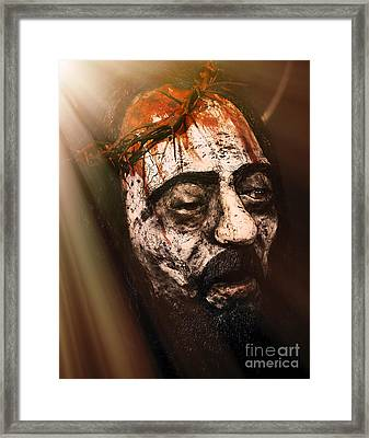 The Passion Of Christ  Framed Print by John Greim
