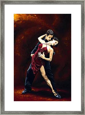The Passion Of Tango Framed Print by Richard Young
