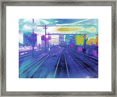 The Past Train 5.1 Framed Print by Tony Rubino