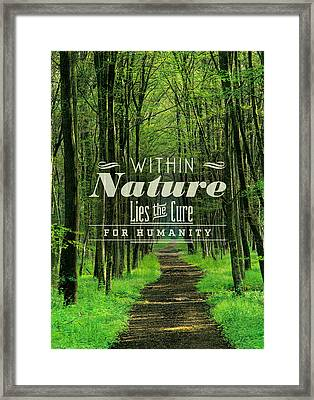 The Path For Humanity Framed Print by BONB Creative