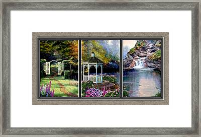 The Path Least Followed Split Image Framed Print by Ron Chambers