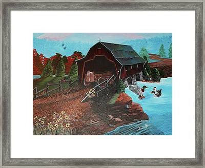The Path Framed Print by Vickie Brooks