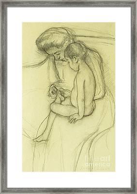 The Pedicure Framed Print by Mary Stevenson Cassatt