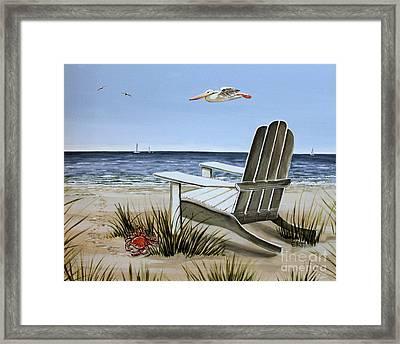 The Pelican Framed Print by Elizabeth Robinette Tyndall
