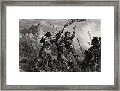 The Pequod War 1637 Connecticut Usa Framed Print by Vintage Design Pics