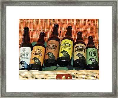 A Perfect Picnic Basket From Bray, Ireland Framed Print by Poet's Eye