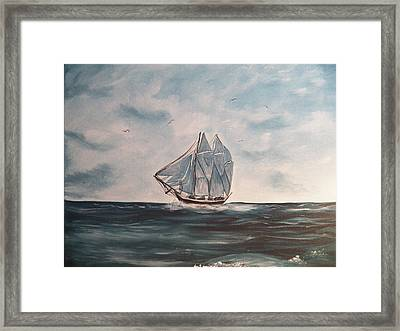 The Phantom Of The Sea Framed Print by Laurie Kidd