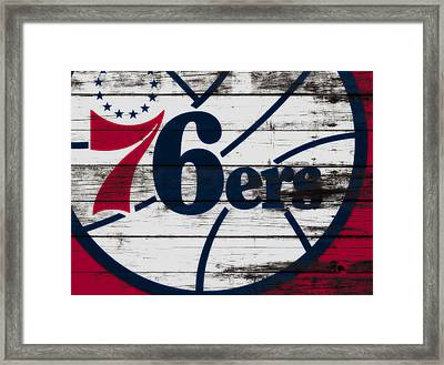 The Philadelphia 76ers 3a        Framed Print by Brian Reaves