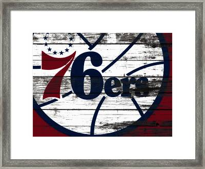 The Philadelphia 76ers 3c        Framed Print by Brian Reaves