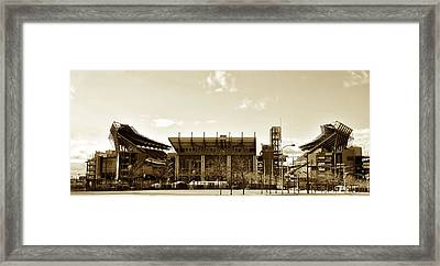 The Philadelphia Eagles - Lincoln Financial Field Framed Print by Bill Cannon