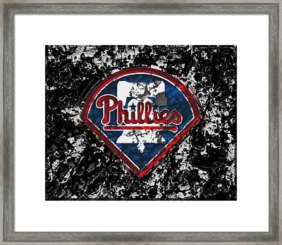 The Philadelphia Phillies 1a Framed Print by Brian Reaves