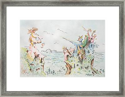 The Philosophers Dilemma Framed Print by Dave Martsolf