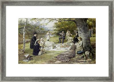 The Picnic Framed Print by George Goodwin