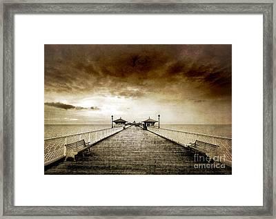 the pier at Llandudno Framed Print by Meirion Matthias