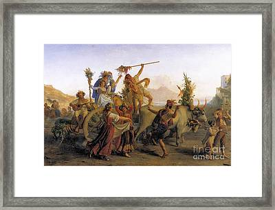 The Pilgrimage To The Madonna Of The Arch Framed Print by MotionAge Designs