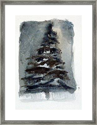 The Pine Tree Framed Print by Mindy Newman