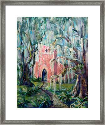 The Pink Chapel Framed Print by Doralynn Lowe