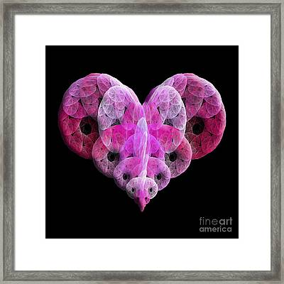 The Pink Heart Framed Print by Andee Design