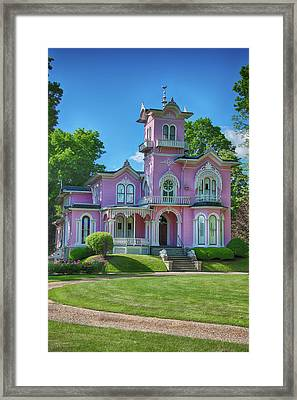 The Pink House Framed Print by Guy Whiteley