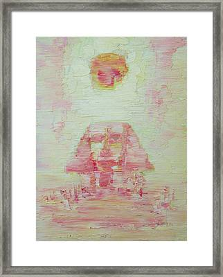 The Pink Sphinx Framed Print by Fabrizio Cassetta