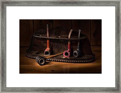 The Pipe Rack Framed Print by Ann Garrett