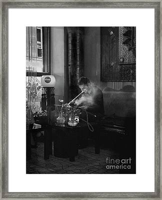 The Pipe Smoker Framed Print by Louise Fahy