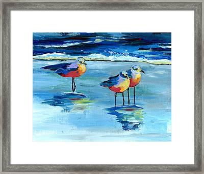 The Pipers Framed Print by Debbie Brown