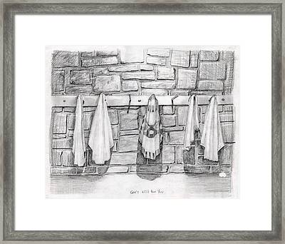 The Plan Framed Print by Larry Cole