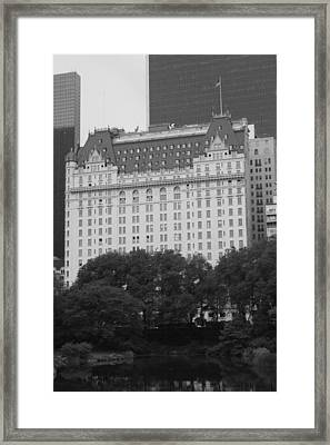 The Plaza Hotel Framed Print by Christopher Kirby