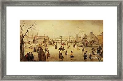 The Pleasures Of Winter Framed Print by Hendrik Avercamp