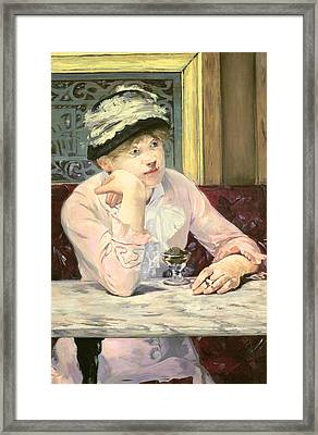 The Plum Framed Print by Edouard Manet