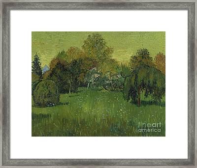 The Poet's Garden Framed Print by Vincent Van Gogh