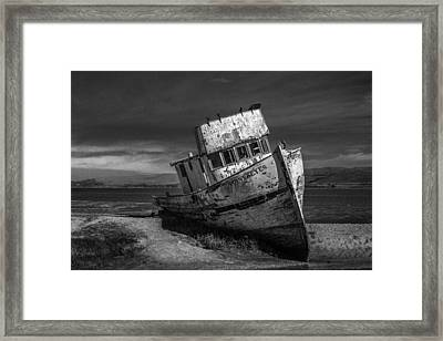 The Point Reyes In Black And White Framed Print by Bill Gallagher