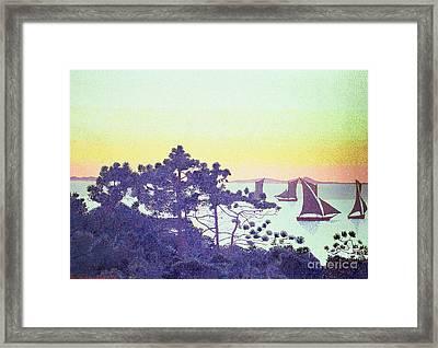 The Pointe De La Galere Framed Print by Henri-Edmond Cross