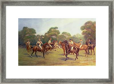The Polo Match Framed Print by C M  Gonne