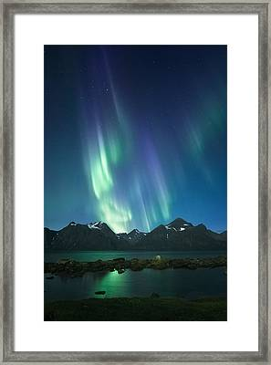 The Pond And The Fjord Framed Print by Tor-Ivar Naess