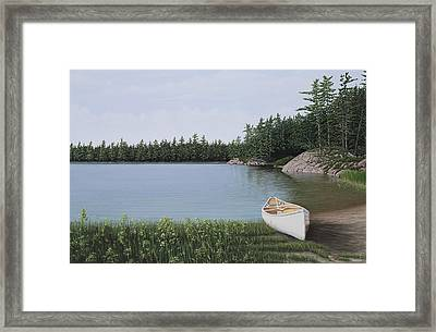 The Portage Framed Print by Kenneth M  Kirsch