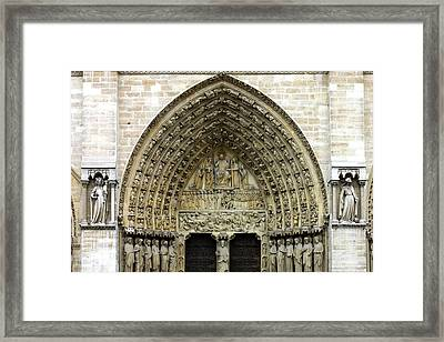 The Portal Of The Last Judgement Of Notre Dame De Paris Framed Print by Fabrizio Troiani