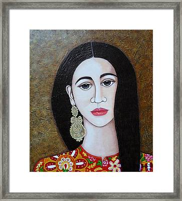 The Portuguese Earring 2 Framed Print by Madalena Lobao-Tello