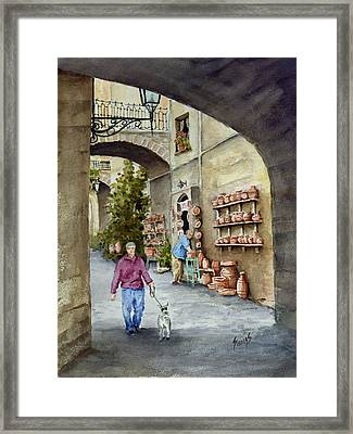 The Pottery Shop Framed Print by Sam Sidders