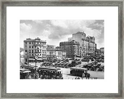 The Praca Da Se In Sao Paulo Framed Print by Underwood Archives