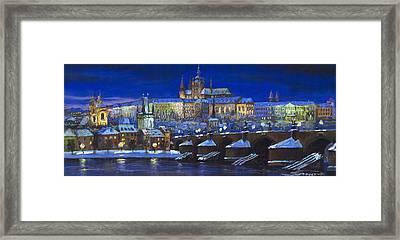 The Prague Panorama Framed Print by Yuriy  Shevchuk