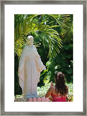 The Praying Princess Framed Print by Rob Hans