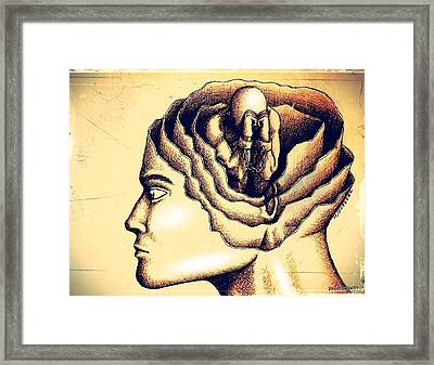 The Prejudice Is Still There In Unconscious Framed Print by Paulo Zerbato