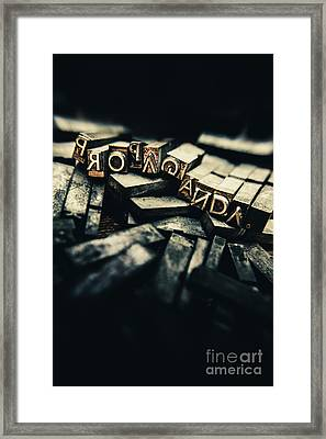 The Pressing History Of Twisting The Narrative Framed Print by Jorgo Photography - Wall Art Gallery