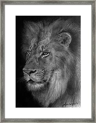 The Pride Drawing Framed Print by Janet Pancho Gupta