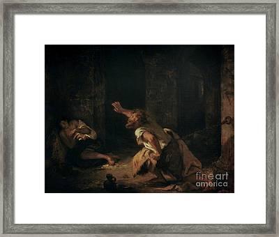 The Prisoner Of Chillon Framed Print by Eugene Delacroix