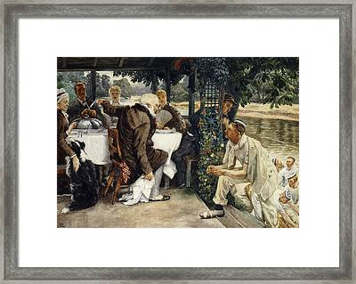 The Prodigal Son In Modern Life  The Fatted Calf Framed Print by James Jacques Joseph Tissot