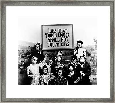 The Prohibition Temperance League 1920 Framed Print by Daniel Hagerman