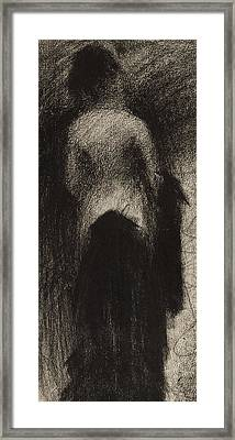 The Promenade Framed Print by Georges Pierre Seurat